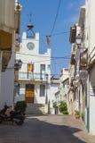 Ulicy mały stary miasteczko Zdjęcia Stock