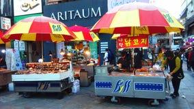 Ulicy, miejscowego rynek w Seul Południowy Korea/ Zdjęcia Stock