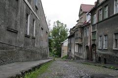 Ulicy opustoszały miasto Zheleznodorozhny, Kaliningrad region, próbka ożywiający miasto, Zdjęcia Royalty Free