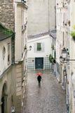 Ulicy Paryż w deszczu Zdjęcie Stock