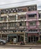 Ulicy Pattaya z ogromną liczbą elektryczni druty Fotografia Stock