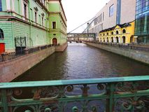 Ulicy Petersburg Rosja Atrakcja turystyczna Zdjęcie Stock