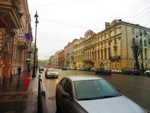 Ulicy Petersburg Rosja Atrakcja turystyczna Fotografia Stock