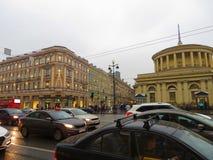 Ulicy Petersburg Rosja Atrakcja turystyczna Obraz Stock