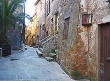 Ulicy Pitigliano, Włochy Obrazy Royalty Free