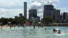 Ulicy plaża w południe banka Parkland Brisbane Australia zbiory