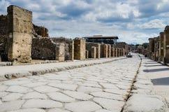 Ulicy Pompeii, Włochy Zdjęcie Stock