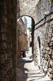 ulicy Rhodes w Tureckiej części Obraz Royalty Free