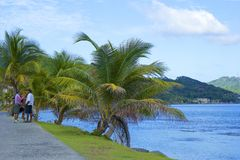 Ulicy Roatan, Honduras Fotografia Royalty Free