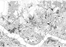 Ulicy Seul, mapa miasto, Południowy Korea royalty ilustracja