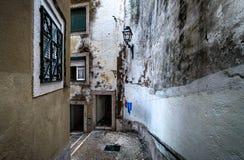 Ulicy stary Lisbon Portugalia zdjęcie stock