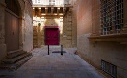 Ulicy stary miasto Mdina Malta obrazy stock