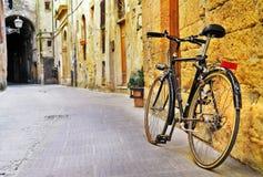 Ulicy stary Tuscany, Włochy Obrazy Royalty Free