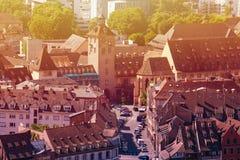 Ulicy Strasburski śródmieście z góry, Francja fotografia royalty free
