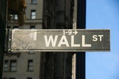 ulicy szyldowa ściana Obrazy Stock