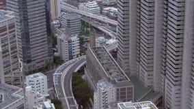 Ulicy Tokio Shinjuku i drapacze chmur - widok z lotu ptaka zdjęcie wideo