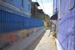 Ulicy Valparaiso, Vina Del Mącący, Chile Zdjęcia Royalty Free