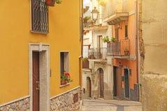 Ulicy Włochy Włoskie ulicy stare miasto Wyspa S Zdjęcie Stock