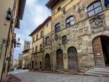Ulicy w Arezzo, Tuscany zdjęcia royalty free