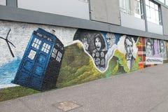 Ulicy w Glasgow doktorską Whor Strret sztuką zdjęcie royalty free