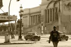 Ulicy w mieście Hawańskim istny Kuba zdjęcia royalty free