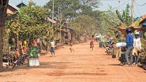 Ulicy w Tonle aproszie, Kambodża obraz royalty free
