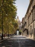 Uliczna architektura w centrum miasta Palermo obrazy royalty free