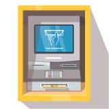 Uliczna ATM narratora maszyna z aktualną operacją Obrazy Royalty Free