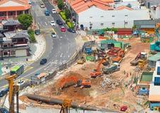 Uliczna budowa w Singapur zdjęcia stock
