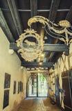 Uliczna dekoracja typowy francuski signage, Strasburg, Francja Fotografia Royalty Free