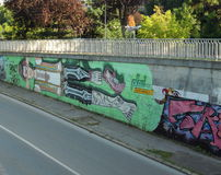 Uliczna graffiti sztuka Zdjęcie Royalty Free