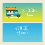 Uliczna jedzenie ciężarówki wektoru ilustracja ilustracja wektor