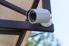 Uliczna kamera zewnętrznie nadzór Fotografia Stock