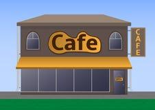 Uliczna kawiarnia ilustracji