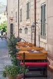 Uliczna kawiarnia, Chorwacja Zdjęcia Stock