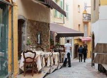Uliczna kawiarnia w Cannes zdjęcie royalty free