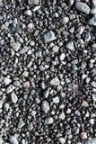 Uliczna luźna czarna żwir tekstura Zdjęcie Royalty Free