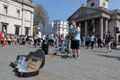 Uliczna muzyk sztuki gitara na Trafalgar kwadracie Obraz Stock