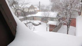 Uliczna opad śniegu zima zbiory wideo