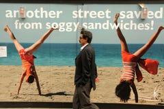Uliczna reklama Zdjęcia Royalty Free