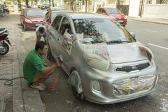 Uliczna samochodowa obraz usługa w Wietnam Zdjęcie Royalty Free