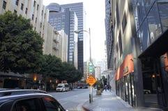 Uliczna scena, śródmieście, los angeles , CA Zdjęcia Stock