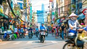 Uliczna scena życie codzienne w Ho Chi Minh mieście Fotografia Royalty Free