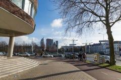 Uliczna scena blisko małomiasteczkowego domu Haga w holandiach Fotografia Royalty Free