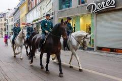 Uliczna scena, Kopenhaga zdjęcia royalty free