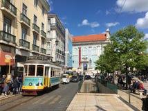 Uliczna scena, Lisbon, Portugalia Obrazy Royalty Free