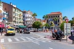 Uliczna scena w Cannes, Francja Fotografia Royalty Free