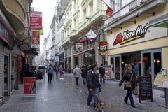 Uliczna scena w Ostend, Belgia Obrazy Stock