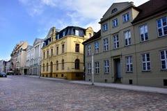 Uliczna scena w Schwerin Niemcy zdjęcia royalty free