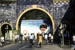Uliczna scena w Szanghaj zdjęcie royalty free